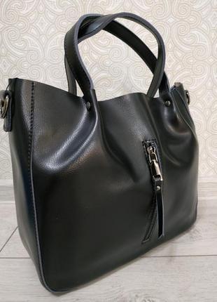 """Кожаная элитная сумка 2019, черные сумки класса """"люкс"""", ремень..."""