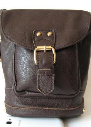 "Кожаная сумка рюкзак, натуральная кожа, стиль ""винтаж"""