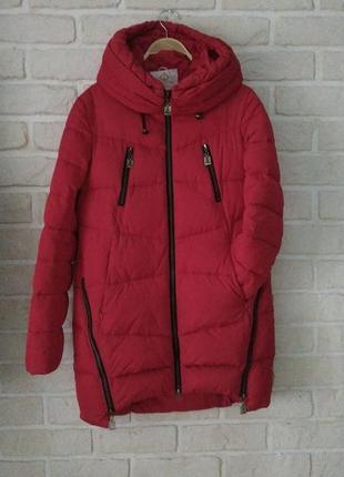 Зимняя теплая куртка парка пуховик