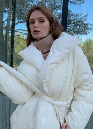 Куртка одеяло молочная