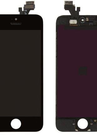 Дисплей для Apple iPhone 5 Оригинал Черный с сенсором и рамкой