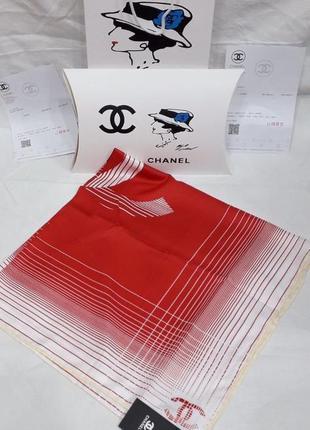 Палантин платок брендовый красный