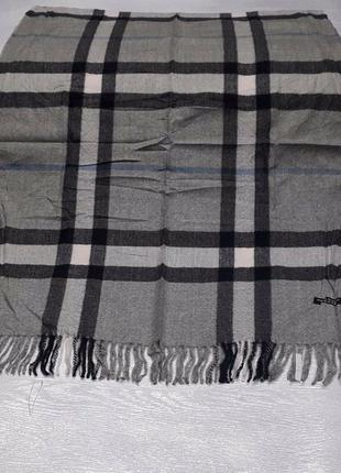 Палантин платок кашемировый клетчатый брендовый