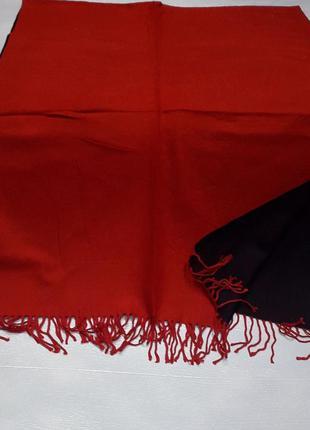 Палантин платок кашемировый красный