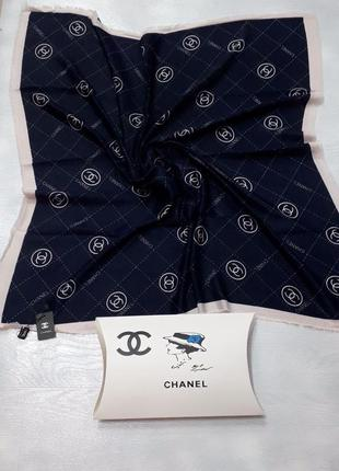 Палантин платок кашемировый брендовый сини