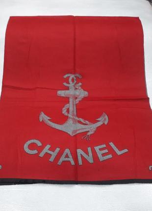 Палантин платок кашемировый брендовый красный