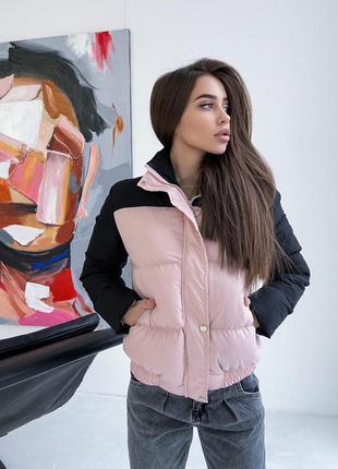 Куртка зимняя пудра