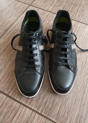 Крутые мужские спортивные кроссовки , туфли hugo boss, натурал...
