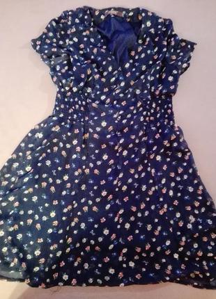 Платье в цветочный принт винтажное