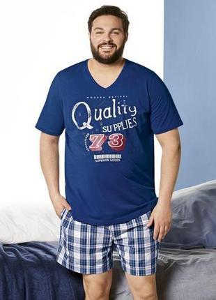 Мужская пижама с шортами livergy {1221}. большие размеры/ хl/ ...