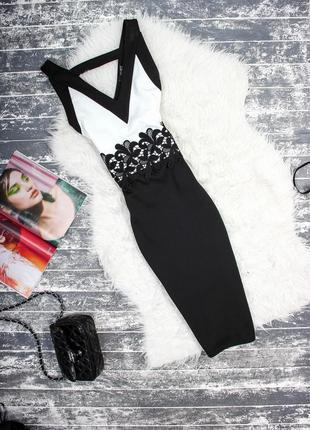 Черно-белое платье quiz