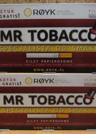 Сигаретные гильзы, для сигарет Mr TOBACCO (фильтрующий картрид...