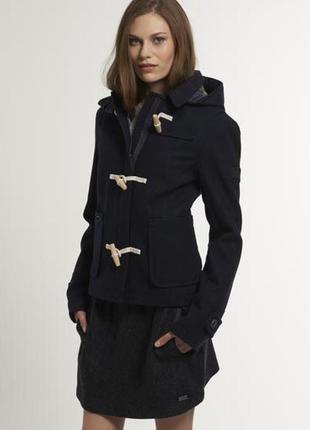 Шерстяное укороченное пальто куртка superdry