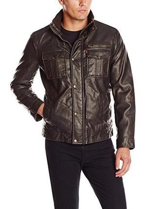 Утепленная кожаная куртка шерпа levis