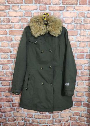 Зимняя куртка парка с мехом the north face