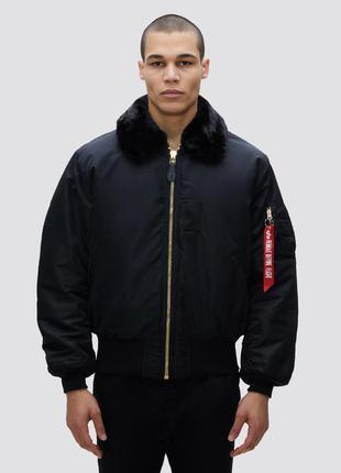 Зимняя куртка бомбер alpha industries