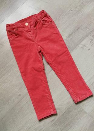 Велюровые коралловые джинсы некст next