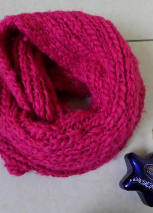 Теплий пишний снуд шарф