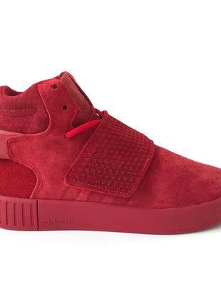 Шикарные женские кроссовки adidas tubular invader red (весна/ ...
