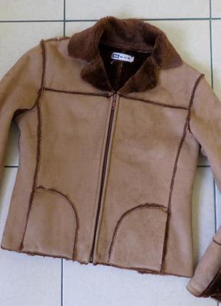 Дубленка куртка s-m