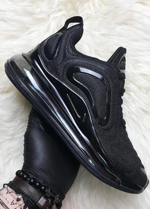 Кроссовки черные nike air max 720 full black (осень/весна/лето)