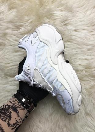 Кроссовки женские adidas x naked magmur runner cream white (ос...