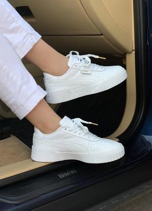 Кроссовки puma basket white