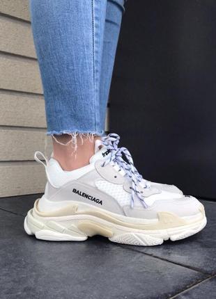 Кроссовки женские triple s white