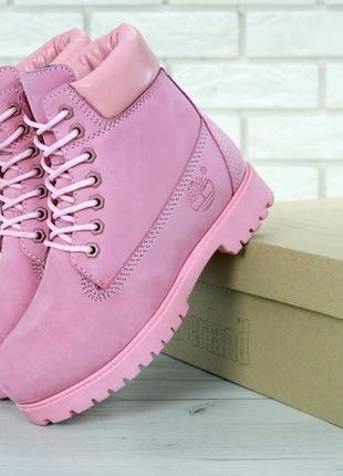 Шикарные женские ботинки timberland (зима)
