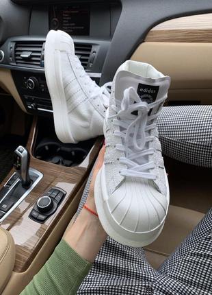 Кроссовки adidas x rick owens triple white (осень/весна/лето)