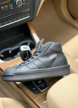 Кроссовки adidas x rick owens triple black(осень/весна/лето)