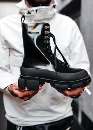 Шикарные женские ботинки both x lost general, black (осень/весна)