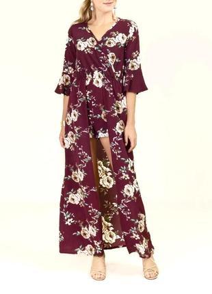 Длинное платье в цветы francesca's