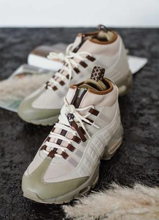 ❄️зимние❄️мужские кроссовки найк, nike sneakerboot beige, зима