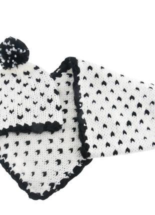 Красивый набор шапка и шарф 7-8 лет тм chicco