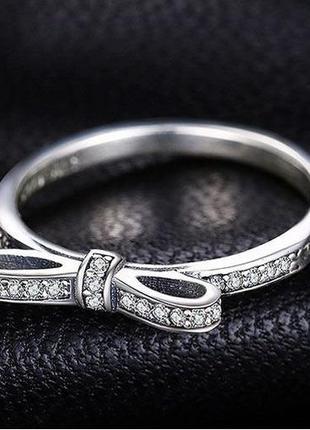 """Серебряное кольцо """"нежный бантик"""". серебро 925"""
