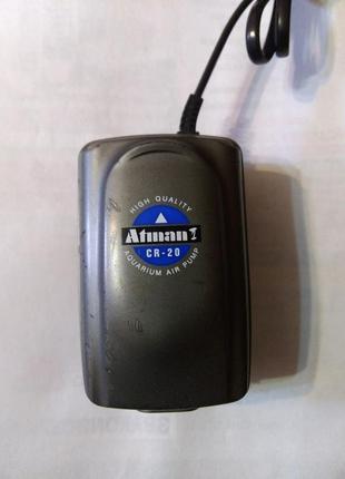 Компрессор Atman CR-20 одноканальный для аквариума до 100л