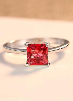 Элегантное серебряное кольцо с кубическим цирконием
