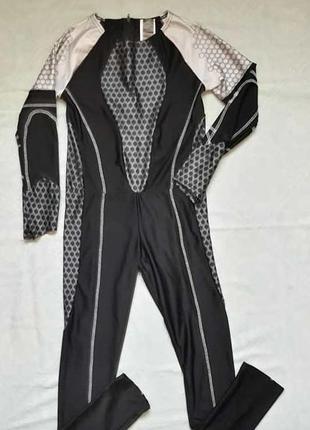 Новый карнавальный костюм/комбинезон в сотах +разрез для пальц...