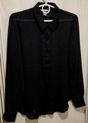 Стильная,модная чёрная женская рубашка со вставками бархата от...
