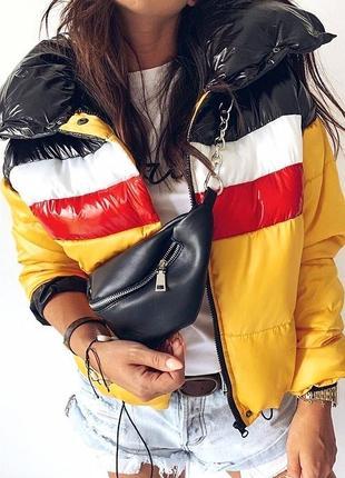 Куртка  зефирка укороченная с большим воротником