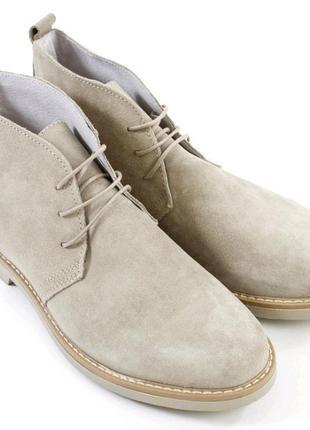 Ботинки мужские azzura chukka boots beige 42 new italy