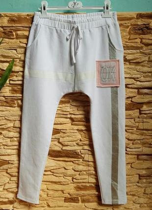 Спортивные штаны-узкачи с мотней gaialuna (италия) на 10-11 ле...