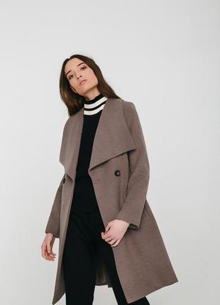 Осеннее женское пальто season цвет мокко