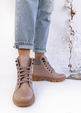 Кожаные женские ботинки мега удобные!