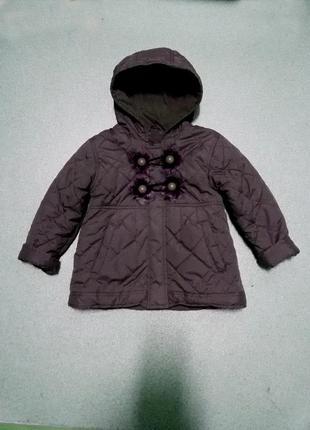 Осенняя куртка пальтишко для девочки n-joy