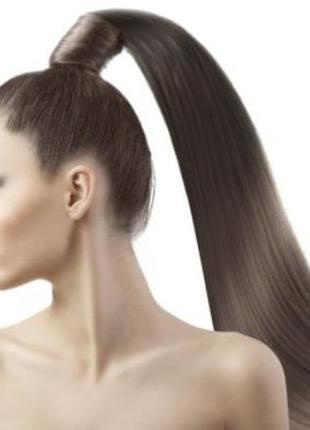 Хвост на ленте волосы на заколках, прицепной хвост