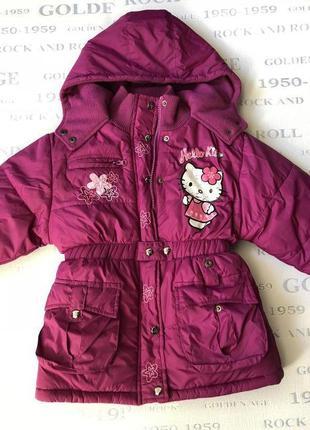 Куртка теплая детская hello kitty