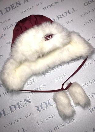 Теплая зимняя шапка детская