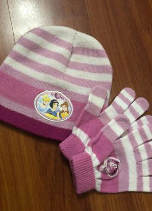Шапка детская и перчатки для девочки